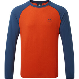 Mountain Equipment Redline LS Tee Herre paprika/denim blue
